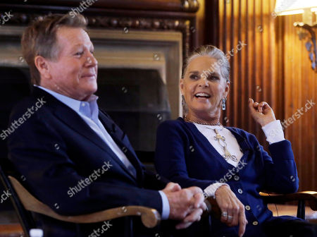 """Ryan O'Neal, Ali MacGraw Actors Ryan O'Neal and Ali MacGraw participate in a talk with students on the campus of Harvard University in Cambridge, Mass., more than 45 years after the release of their 1970 classic """"Love Story."""" The duo, now in their 70s, currently are co-starring in a national tour of """"Love Letters,"""" which is about a man and a woman who maintain contact over 50 years through notes, cards and letters"""