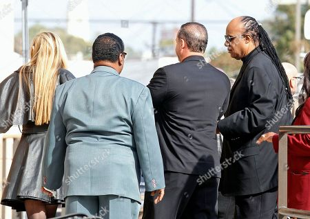 Stevie Wonder Singer Stevie Wonder, far right, arrives for the funeral of singer Natalie Cole at West Angeles Church of God in Christ in the Crenshaw district of Los Angeles, . Cole died on New Year's eve at age 65