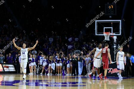 Justin Edwards Kansas State guard Justin Edwards (14) during the second half of an NCAA college basketball game against Oklahoma at Bramlage Coliseum in Manhattan, Kan., . Kansas State defeated Oklahoma 80-69