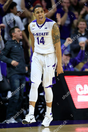 Justin Edwards Kansas State guard Justin Edwards (14) during the first half of an NCAA college basketball game against Oklahoma at Bramlage Coliseum in Manhattan, Kan