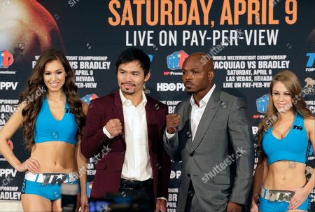 Editorial image of Pacquiao Bradley Boxing, Beverly Hills, USA