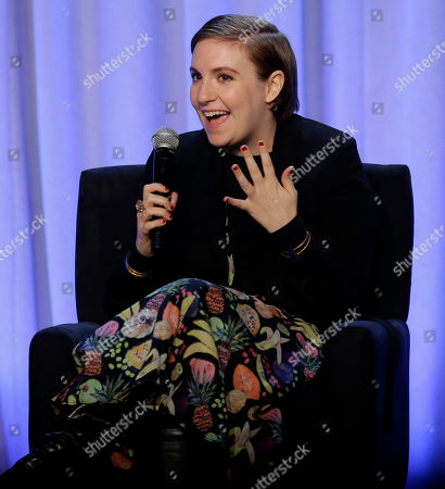 """Lena Dunham Writer and actress Lena Dunham speaks during a panel entitled """"Media with Purpose"""" at the American Magazine Media 360 Conference in New York. Spokeswoman Cindi Berger said in a statement that Dunham had been taken to an undisclosed hospital Saturday, March 5"""