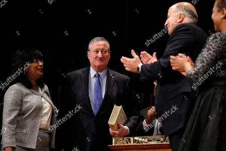 Stock Picture of Jim Kenney Jim Kenney walks to take his oath as the city's 99th mayor, at the Academy of Music in Philadelphia. The 57-year-old Kenney succeeds Michael Nutter, who leaves office after two terms. Kenney served on city council for more than two decades before he was elected in November. Kenney is accompanied by his children Nora and Brendan and was sworn in by Judge Kevin Dougherty