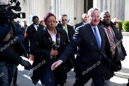 Jim Kenney Newly sworn in Philadelphia Mayor Jim Kenney takes the sidewalk from his inauguration to City Hall, in Philadelphia. The 57-year-old Kenney succeeds Michael Nutter, who leaves office after two terms. Kenney served on city council for more than two decades before he was elected in November