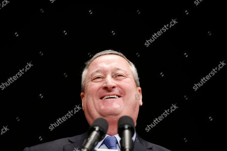 Jim Kenney Jim Kenney speaks during his inauguration as the city's 99th mayor, at the Academy of Music in Philadelphia. The 57-year-old Kenney succeeds Michael Nutter, who leaves office after two terms. Kenney served on city council for more than two decades before he was elected in November
