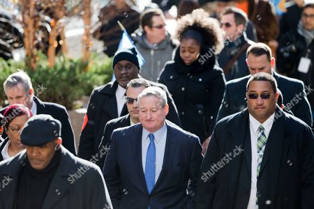 Jim Kenney Newly sworn in Philadelphia Mayor Jim Kenney, center, takes the sidewalk from his inauguration to City Hall, in Philadelphia. The 57-year-old Kenney succeeds Michael Nutter, who leaves office after two terms. Kenney served on city council for more than two decades before he was elected in November