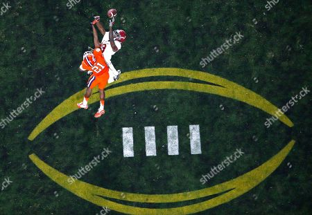 Stock Picture of Clemson's Adrian Baker (21) breaks up a pass intended for Alabama's Calvin Ridley after the NCAA college football playoff championship game, in Glendale, Ariz. Alabama won 45-40