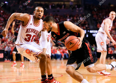 Ed Morrow, Bishop Daniels Rutgers' Bishop Daniels, center, tries to get around Nebraska's Ed Morrow (30) during the second half of an NCAA college basketball game in Lincoln, Neb