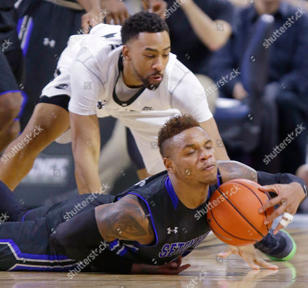 Derrick Gordon, Jalen Lindsey Seton Hall guard Derrick Gordon, bottom, gains control of the ball as he beats Providence guard Jalen Lindsey, top, on the play during the second half of an NCAA college basketball game, in Providence, R.I. Seton Hall defeated Providence 81-72