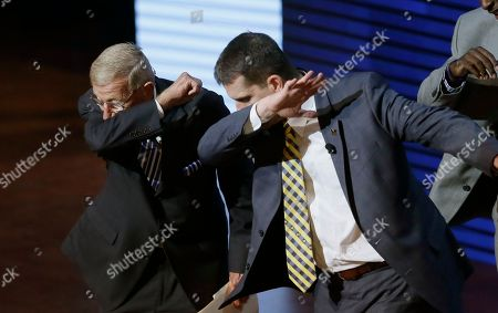 Editorial photo of Signing Day Harbaughs Show Football, Ann Arbor, USA