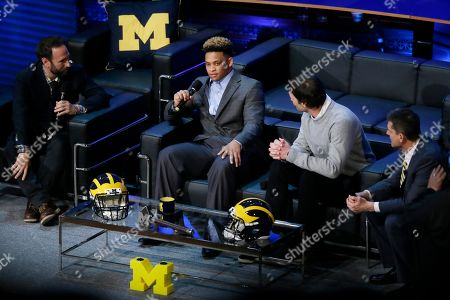 Editorial picture of Signing Day Harbaughs Show Football, Ann Arbor, USA
