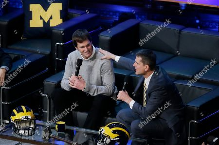 Editorial image of Signing Day Harbaughs Show Football, Ann Arbor, USA