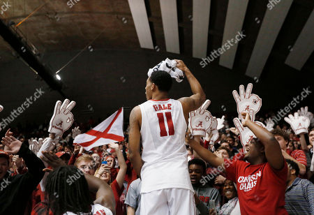 Shannon Hale Alabama forward Shannon Hale celebrates with the student section after Alabama defeated Texas A&M 63-62 in an NCAA college basketball game, in Tuscaloosa, Ala