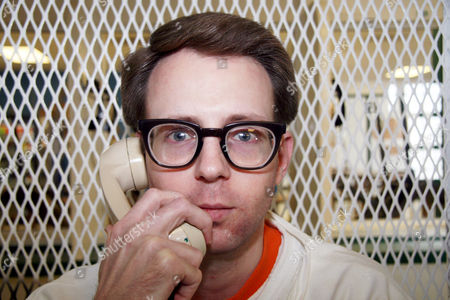 Convicted killer Adam Kelly Ward is photographed, in a visiting cage outside death row at the Texas Department of Criminal Justice Polunsky Unit near Livingston, Texas. Ward, 33, is set for lethal injection March 22, 2016, for fatally shooting code enforcement officer Michael Walker in Commerce, Texas, in 2005 in a trash dispute. Walker was taking pictures of Ward's home, where court documents say rubbish was hoarded inside and outside