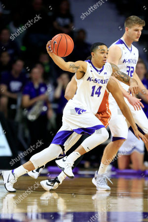 Justin Edwards Kansas State guard Justin Edwards (14) during the first half of an NCAA college basketball game against Texas in Manhattan, Kan