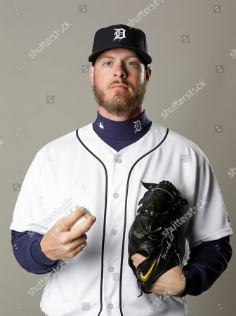 This is a 2016 photo of Mark Lowe of the Detroit Tigers baseball team. This image reflects the 2016 active roster as of, in Lakeland, Fla., when this photo was taken