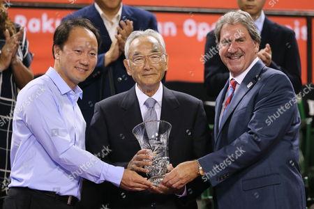 (L-R) Michael Chang, Masaaki Morita, David Haggerty