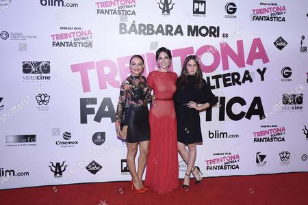 Stock Image of Marimar Vega, Barbara Mori and Natasha Dupeyron
