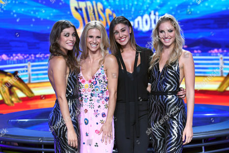 Irene Cioni, Ludovica Frasca, Michelle Hunziker and Belen Rodriguez