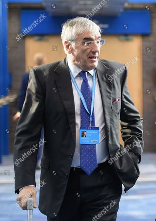 Sir Michael Hintze attends the 2016 Conservative Party Conference.