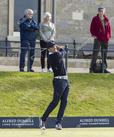Michael Vaughan - former England cricket captain on te first tee during a practice round at The Alfred Dunhill Links Championship at The Old Course, St. Andrews, Scotland on 5th October