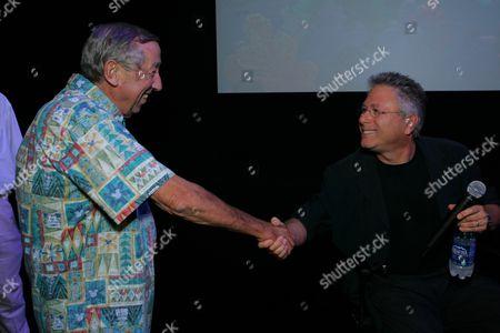 Roy Disney and Composer Alan Menken