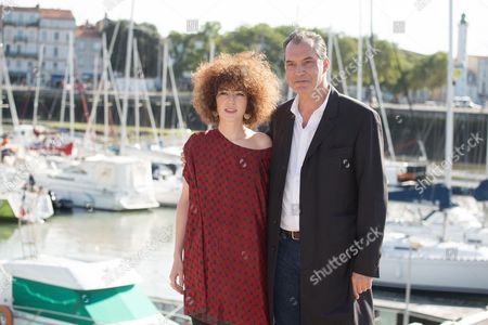 Blandine Bellavoir, Samuel Labarthe at photocall for 'Les petits meutres'