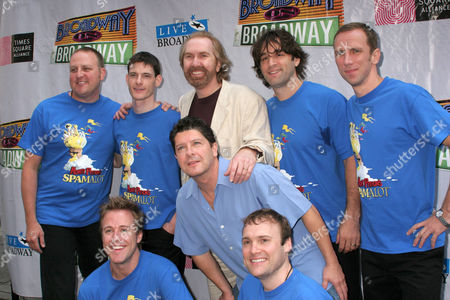 Michael McGrath, Harry Groener and the cast of 'Spamalot'