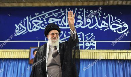 Editorial image of Iranian Supreme Leader Ayatollah Seyyed Ali Khamenei meets with the commanders of the Islamic Revolution Guards Corps (IRGC) in Tehran, Iran - 18 Sep 2016
