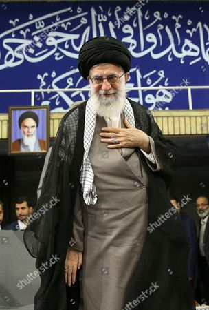Editorial photo of Iranian Supreme Leader Ayatollah Seyyed Ali Khamenei meets with the commanders of the Islamic Revolution Guards Corps (IRGC) in Tehran, Iran - 18 Sep 2016