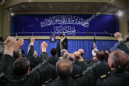 Stock Image of Iranian Supreme Leader Ayatollah Ali Khamenei