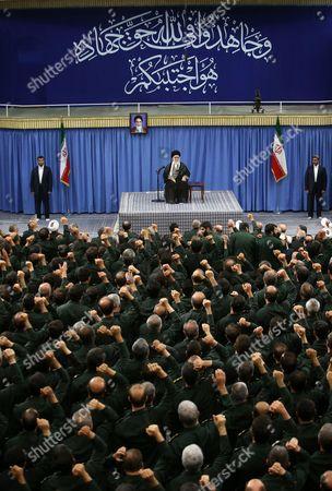 Stock Picture of Iranian Supreme Leader Ayatollah Ali Khamenei