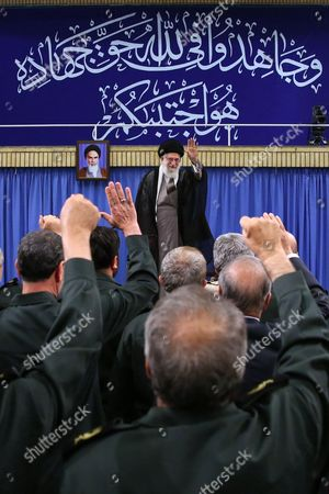 Editorial picture of Iranian Supreme Leader Ayatollah Seyyed Ali Khamenei meets with the commanders of the Islamic Revolution Guards Corps (IRGC) in Tehran, Iran - 18 Sep 2016