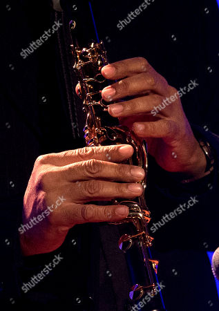 """Brian Cayolle The hands and clarinet of Brian """"Breeze"""" Cayolle are seen as he performs a solo of """"Ave Maria"""" during a funeral tribute to Allen Toussaint in New Orleans, . New Orleans and lovers of New Orleans' rich musical heritage crowded into the historic Orpheum theater Friday and bid goodbye in words and song to Toussaint, a prolific songwriter, performer and producer who died last week at age 77"""