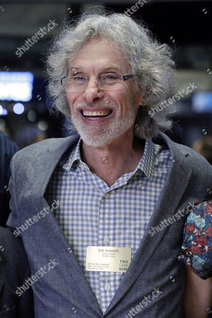 Stock Image of Bob Mankoff Bob Mankoff, featured cartoonist and cartoon editor of The New Yorker magazine, poses for photos on the floor of the New York Stock Exchange, after ringing the opening bell