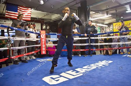 Daniel Jacobs Brooklyn's middleweight boxer Daniel Jacobs workout at Gleason's Gym, in the Brooklyn borough of New York. Jacobs will fight Brooklyn's Peter Quillin for the WBA World middleweight title as the main event, during Showtime championship boxing at Barclays Center, Saturday Dec. 5