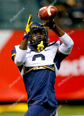 Donte Thomas-Williams West Virginia running back Donte Thomas-Williams (8) warms up prior to the Cactus Bowl NCAA College football game against Arizona State, in Phoenix