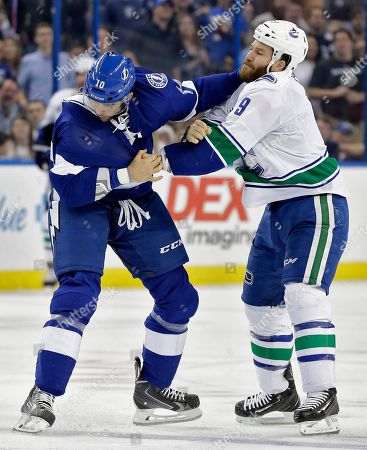 Editorial image of Canucks Lightning Hockey, Tampa, USA