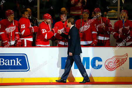 Sergei Fedorov Former Detroit Red Wings forward Sergei Fedorov greets players before dropping a ceremonial puck before an NHL hockey game against the Washington Capitals in Detroit. Fedorov was recently inducted into the Hockey Hall of Fame