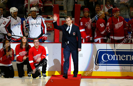 Sergei Fedorov Former Detroit Red Wings forward Sergei Fedorov waves before dropping a ceremonial puck before an NHL hockey game against the Washington Capitals in Detroit. Fedorov was recently inducted into the Hockey Hall of Fame
