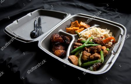 A Styrofoam container is shown with take out food at a restaurant in Washington, . A ban on Styrofoam food and drink containers is set to go into effect in the District of Columbia on Friday. The D.C. Council and then-mayor Vincent Gray passed the law in 2014 as part of a set of environmental initiatives that also includes requiring businesses to use compostable disposable dining products by 2017