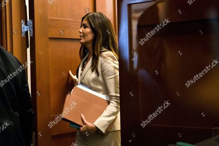 Stock Image of Kathleen Kane Pennsylvania Attorney General Kathleen Kane departs after a hearing, at the Pennsylvania Judicial Center in Harrisburg, Pa. Judge John Cleland order Kane to attend a closed-door hearing to be questioned under oath about any leaks by prosecutors or a judge of secret grand jury material from the child sexual abuse investigation of former Penn State assistant football coach Jerry Sandusky