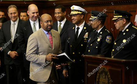 Philadelphia Mayor Michael Nutter arrives for a news conference, at City Hall in Philadelphia. Nutter along with local and federal officials discussed security measures for the upcoming 22nd annual Philadelphia Marathon