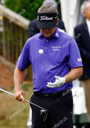 Jason Bohn Jason Bohn bounces waits to tee off the first hole during the third round of the Sanderson Farms Championship golf tournament in Jackson, Miss