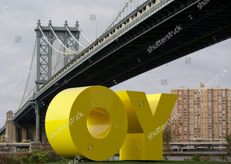 Editorial photo of Travel Brooklyn Park YO/OY Sculpture, New York, USA