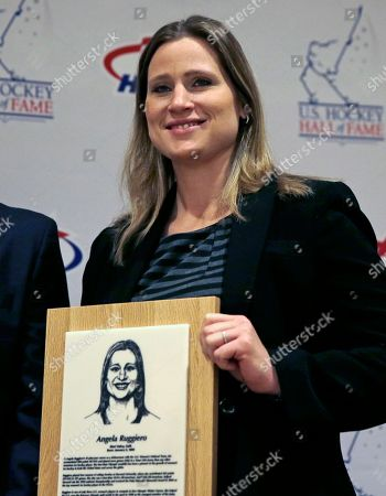 Angela Ruggiero U.S. Hockey Hall of Fame Class of 2015 inductee Angela Ruggiero, a four-time Olympic medalist, poses for a photograph prior to the induction ceremony in Boston