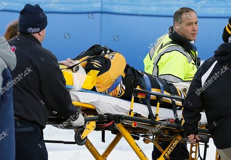 Denna Laing Boston Pride's Denna Laing is wheeled off the ice after being injured during a women's hockey game against the Montreal Les Canadiennes at Gillette Stadium in Foxborough, Mass., where the Boston Bruins will play the Montreal Canadiens in the NHL Winter Classic on Friday