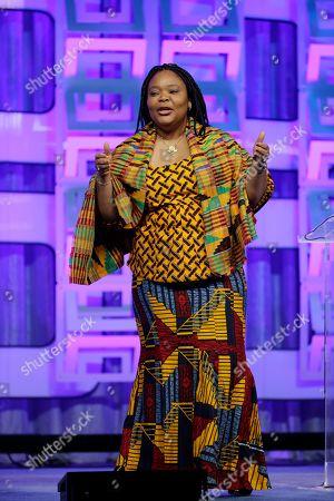 Leymah Gbowee Nobel Peace Prize laureate Leymah Gbowee speaks, at the Pennsylvania Conference for Women in Philadelphia