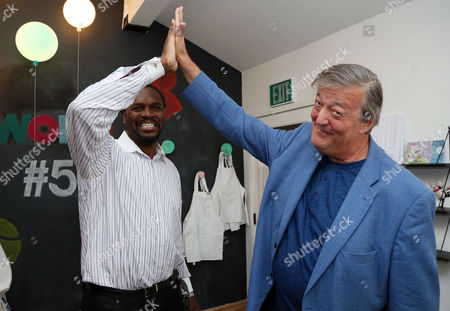 Audley Harrison and Stephen Fry