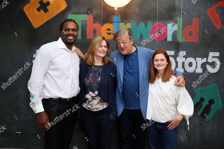 Stock Photo of Audley Harrison, Sarah Brown, Stephen Fry and Bonnie Wright